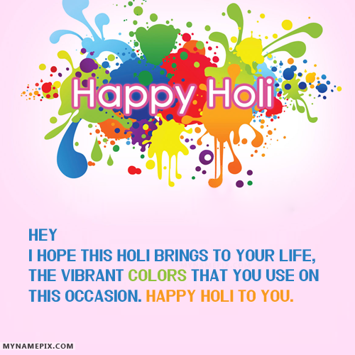 The Name Ayush Singh Mohit Is Generated On Amazing Happy Holi