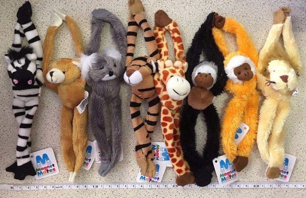 Monkey Soft Toys Magnetic Monkeys Fridge Magnets Magnet Monkeys Plush 15cm New