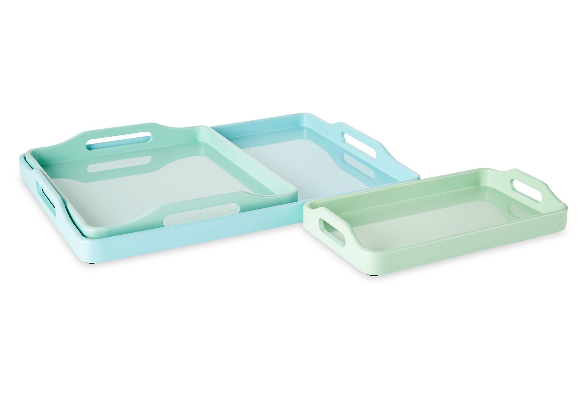 Asst. 3 Stackable Trays, Mint | Downstairs | One Kings Lane