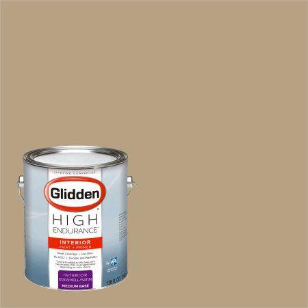 Glidden High Endurance, Interior Paint and Primer, Old Surrey Beige, #30YY 36/185, Eggshell, 1 Gallon, Brown