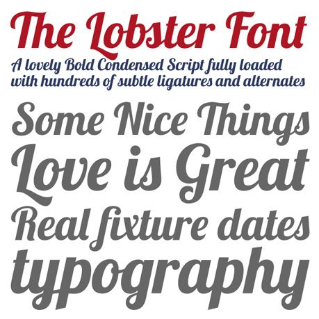 The Lobster Font Typo Pinterest Best free fonts, Lobsters - good fonts for resumes