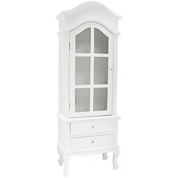 White Wooden Armoire Display Cabinet U2013 Allissias Attic U0026 Vintage French  Style