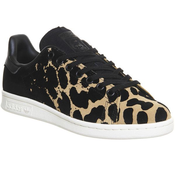 Adidas stan smith black, Leopard print