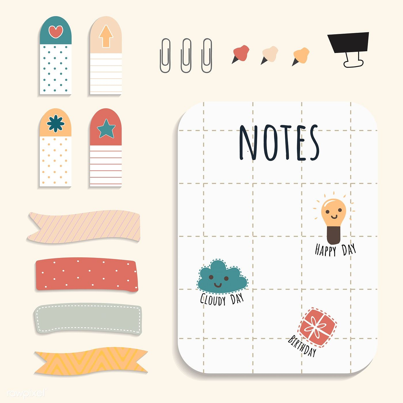 22+ Cute sticky note clipart ideas in 2021