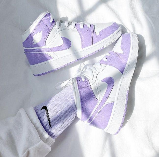 Custom painted air jordan 1 mid sneakers  | THE CU