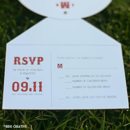 red and white vintage boston baseball theme invitations - Baseball Wedding Invitations