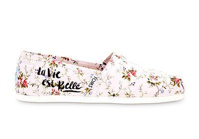 29d80834579 Toms Floral Pink Blush Classics at eshoes  toms  floral  ditsy  classics   blush  casual  ladies  shoes  espadrilles  vintage  shabbychic  eshoes