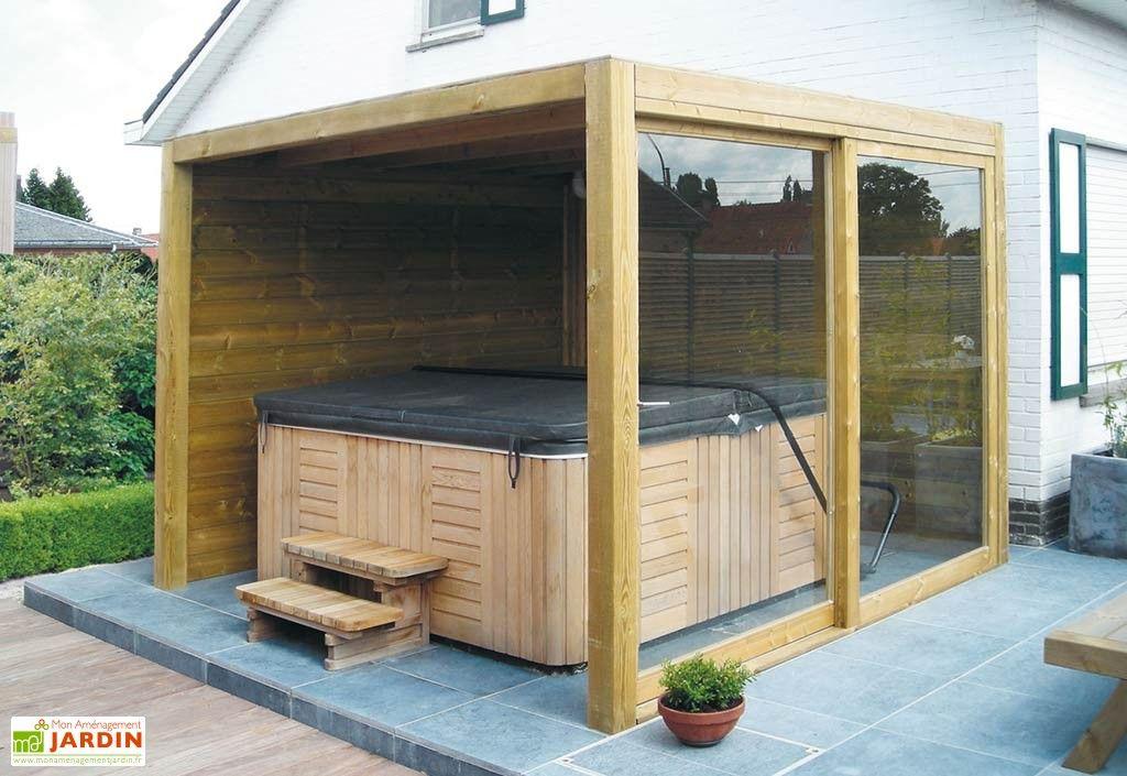 abri de jardin bois 2 parois 1 baie vitr e exterior 300x300cm abri pour spa porte. Black Bedroom Furniture Sets. Home Design Ideas