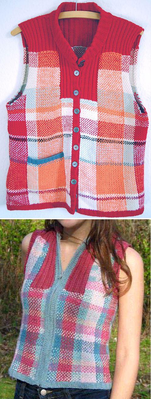 Free Knitting Pattern for Highland Spring Vest - Plaid vest in ...