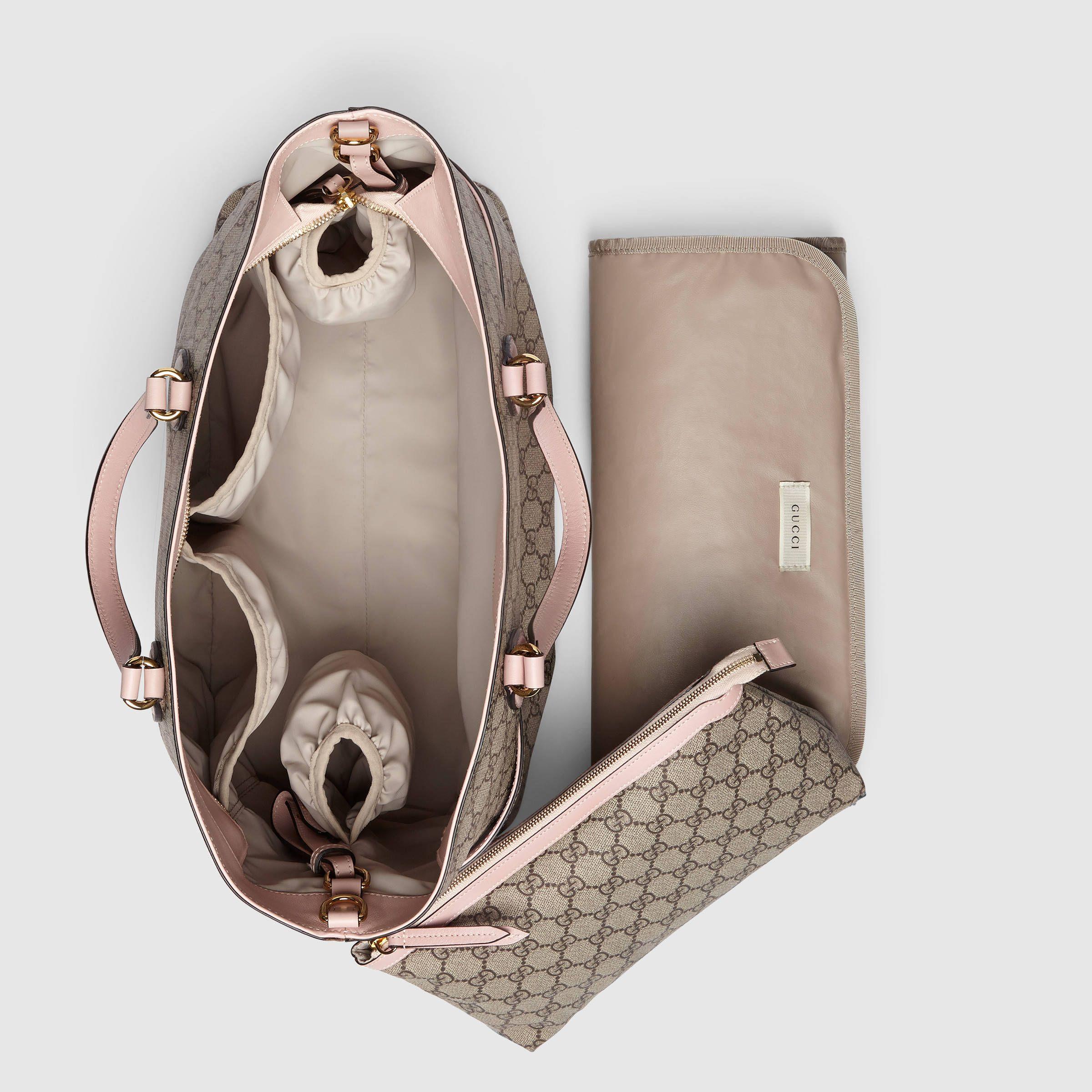 b520fe854b10 Soft GG Supreme diaper bag - Gucci Diaper Bags & Totes 457356K5ICG8268