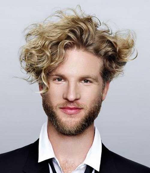 35 Cool Curly Hairstyles For Men Men Blonde Hair Top 10 Hair Styles Medium Hair Styles