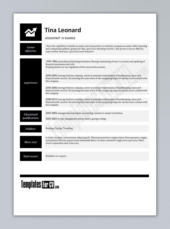 Free Curriculum Vitae Resume Template Httpresumecareerfo