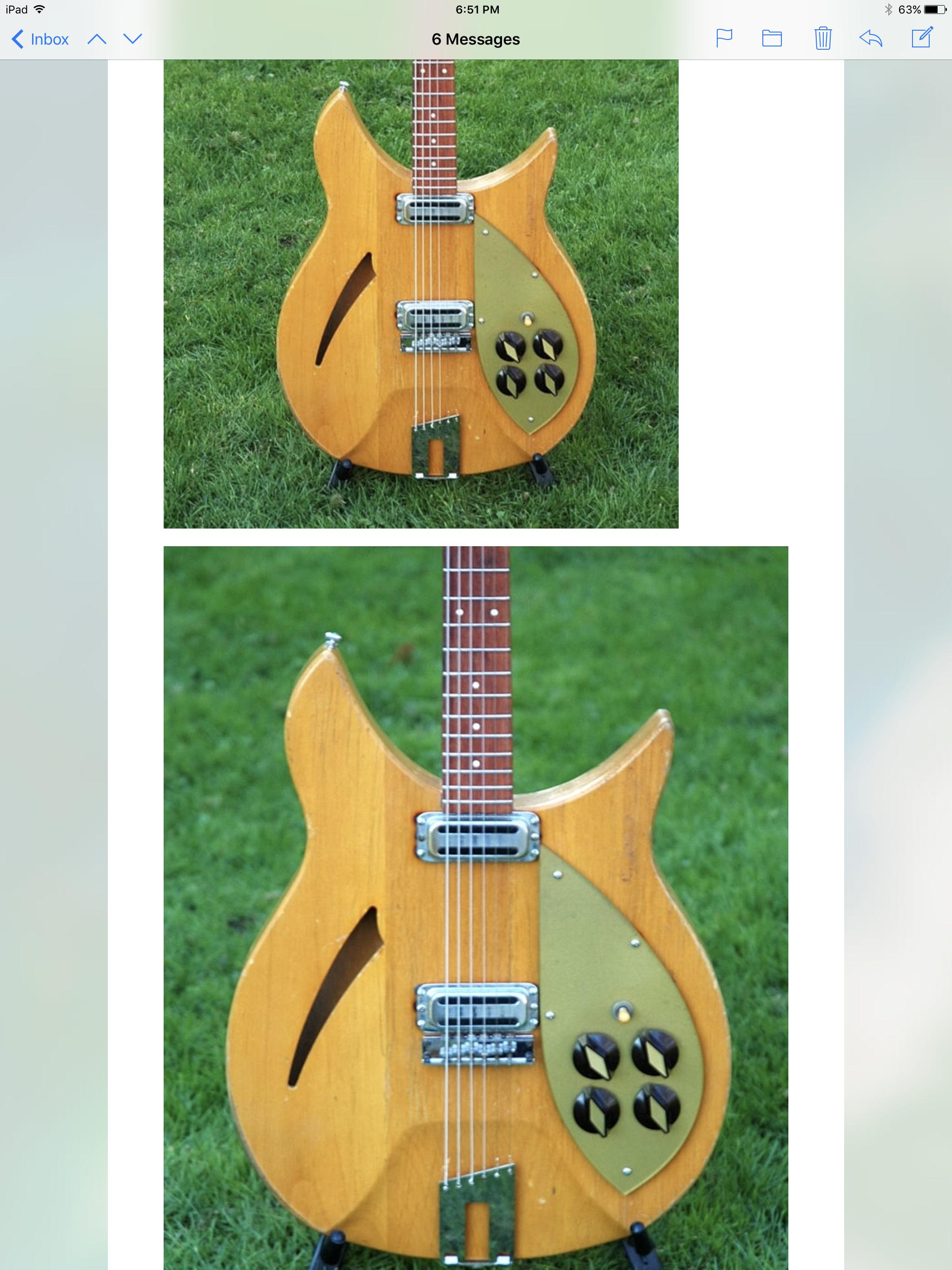 Classic BLACK dual-jack jackplate made for Rickenbacker guitars