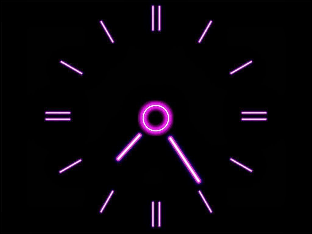 Clock Wallpaper And Make This Live Clock Wallpaper For Your Desktop Clock Wallpaper Neon Clock Clock Screensaver