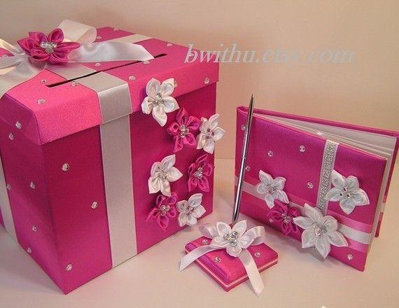 Purplr And Lime Green Wedding Card Box Gift Por Bwithustudio