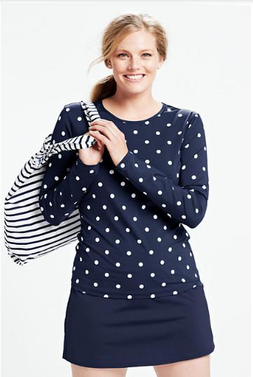 ce0ab6a7affb2 Fashion for women Plus Size lands end suit  swim  plussize  swimsuit  black   rashguard  swim  shirt
