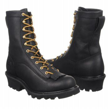 John Deere Men's 9 Inch NST Lace-To-Toe Logger Black 12 W US
