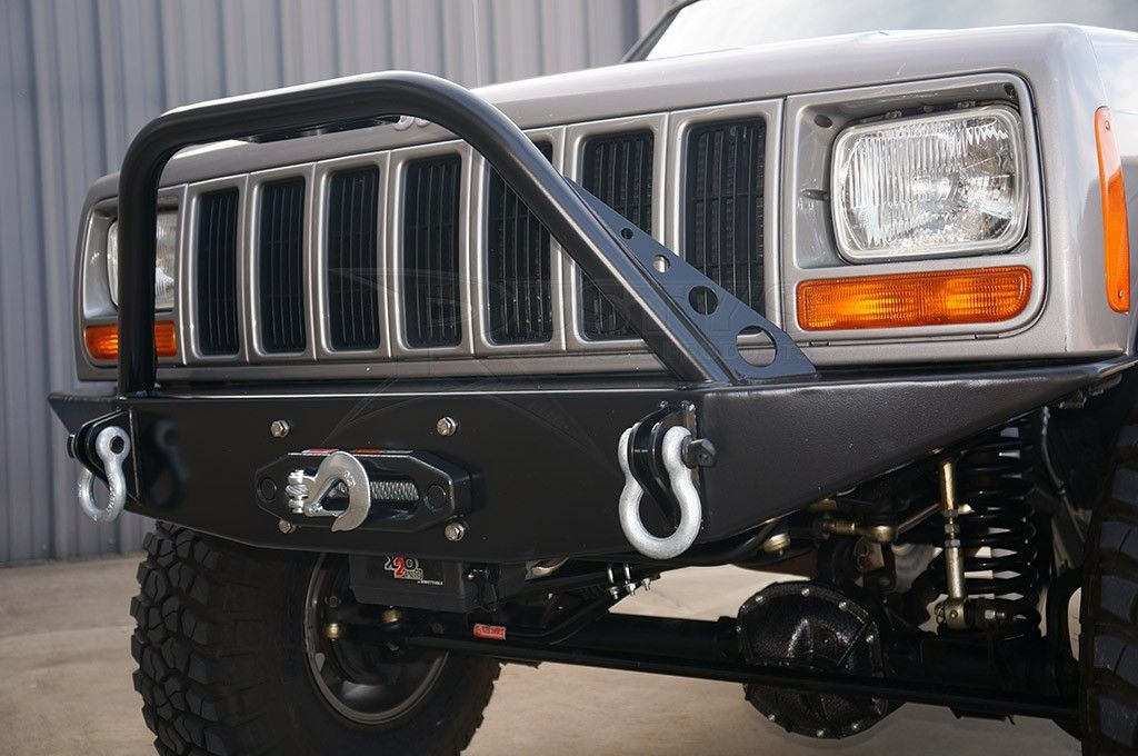 Rusty S Offroad Xj Cherokee Front Trail Bumper With Pre Runner Bar Crawltech Drag