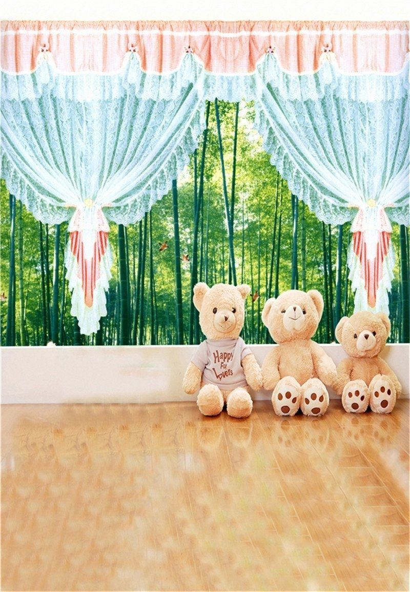6x4ft Cute Panda Photography Backdrop Children Photos Props YouTube Video Background Room Mural LYFU456