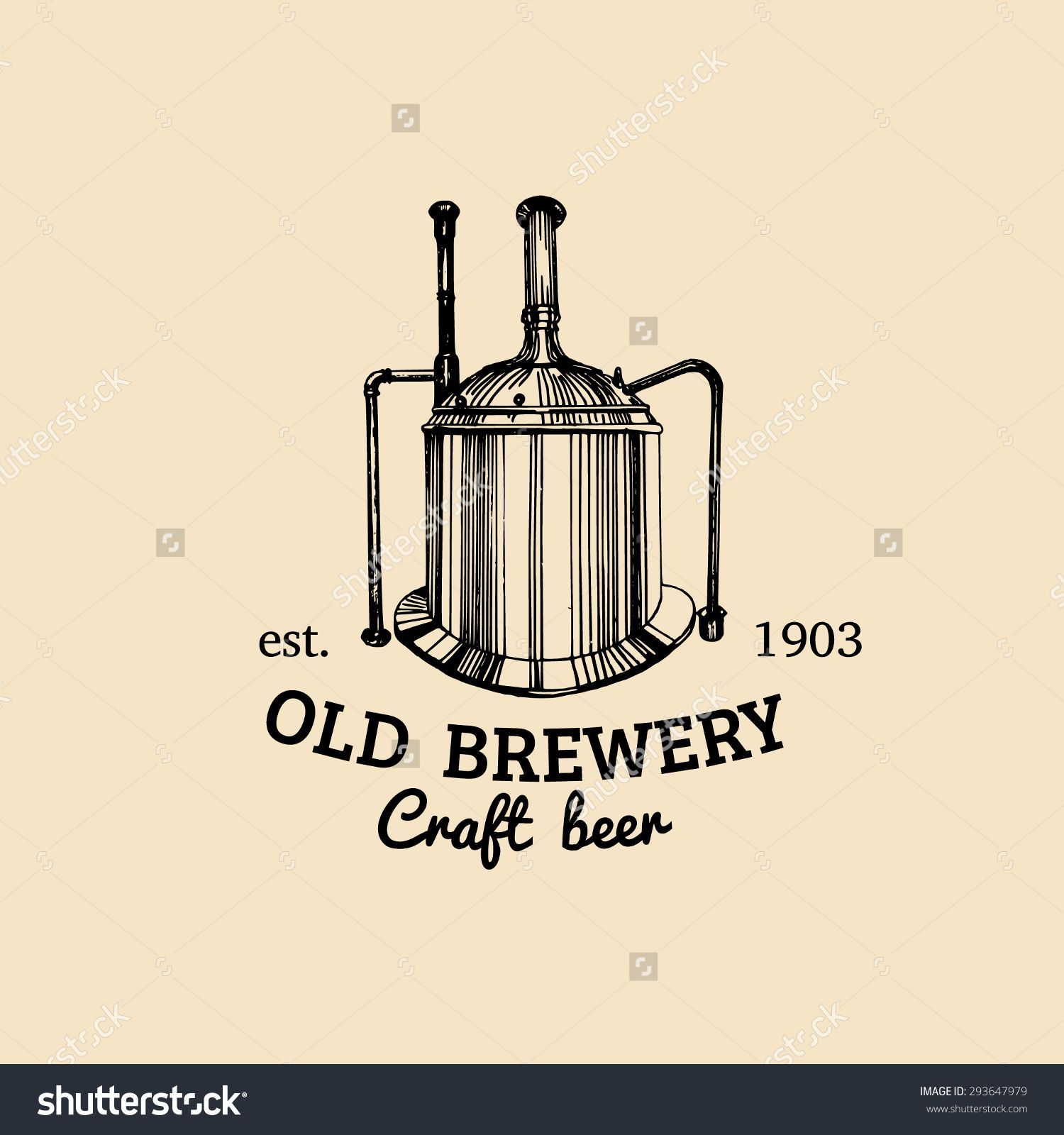 brew kettle old brewery beer labels brewery sketch