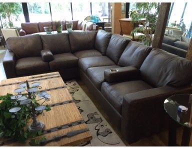 Brand New Clearance Brentwood Leather Sectional