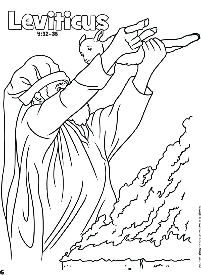 Leviticus | sunday school | Bible coloring pages, Coloring ...