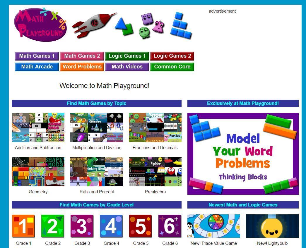 Math Playground Fun Online Games Online Math Games Homeschool Math