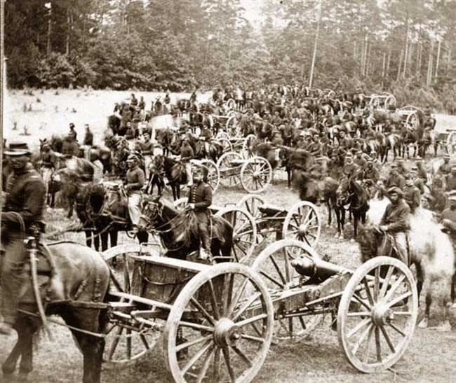 Gibson's horse battery (C. 3d U.S. Art'y.) near Fair Oaks, Virginia June 1862