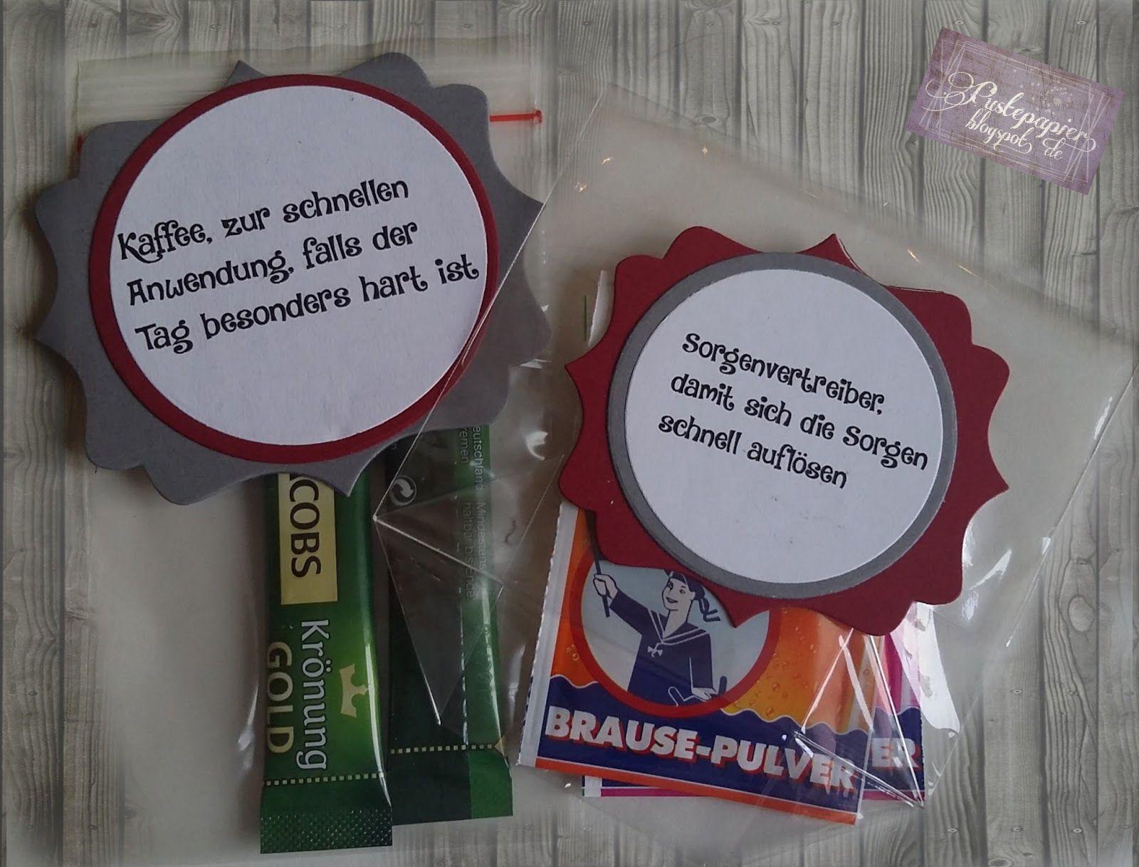 Erzieher Survival Set Geschenke Kleinigkeit basteln Geschenke für Erzieher kleines Dankeschön