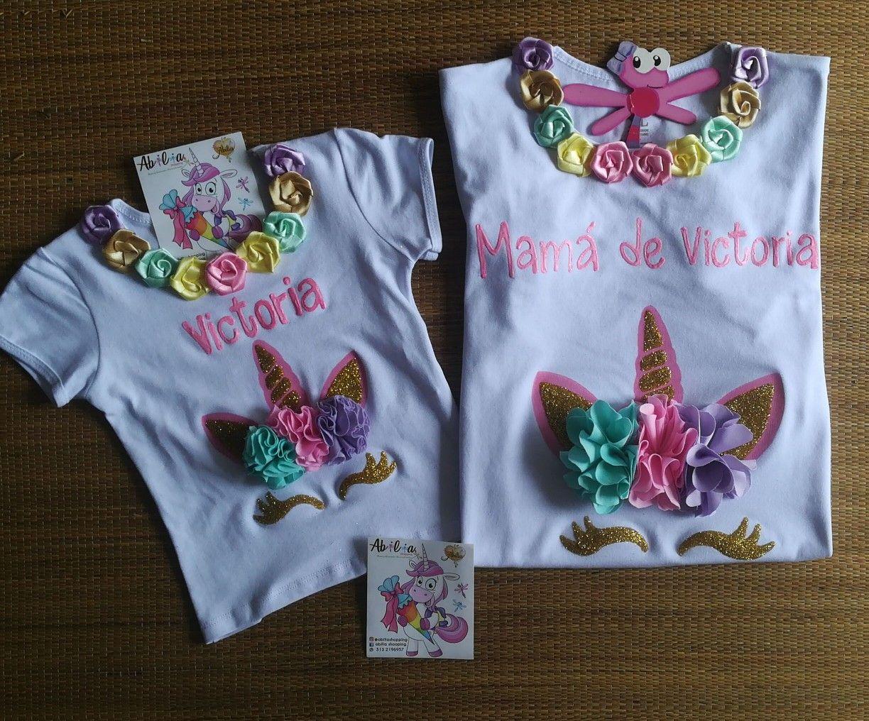 Blusas y camisetas personalizadas unicornio Mamá e hija Abilia Shopping  Whatsapp 3132196957 db9169e63c2cd