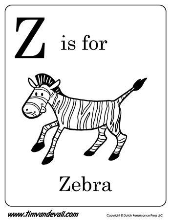 Z Is For Zebra Letter Z Coloring Page Pdf Preschool Alphabet Printables Alphabet Phonics Abc Flashcards