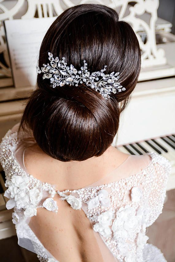 PEINA TOCADO PARA NOVIAS Y//O FIESTA HAIR COMB PIN BRIDE OR BRIDESMAID