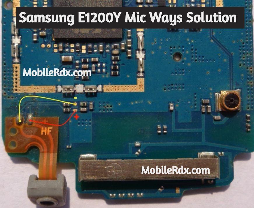 Samsung E1200y Mic Ways Mic Problem Jumper Solution Phone Solutions Mobile Tricks Samsung