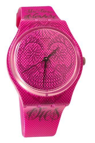 SWATCH GP138 time never dies pink dial plastic strap unisex watch NEW Swatch. $58.99. Band Color: pink. Dial color: pink. Brand:SWATCH. Model: GP138. Condition:Brand new with Tags
