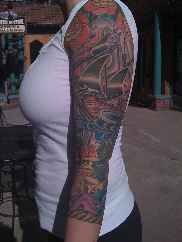 Nice sleeve! Rope...way to end sleeve