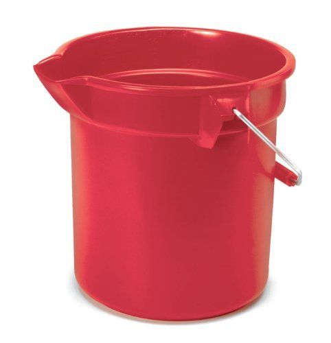 Rubbermaid Commercial 2963 Red 10 Qt Capacity 10 1 2 Diameter 10 1 4 Height Red Color Brute Hig Rubbermaid Commercial Products Rubbermaid Plastic Buckets