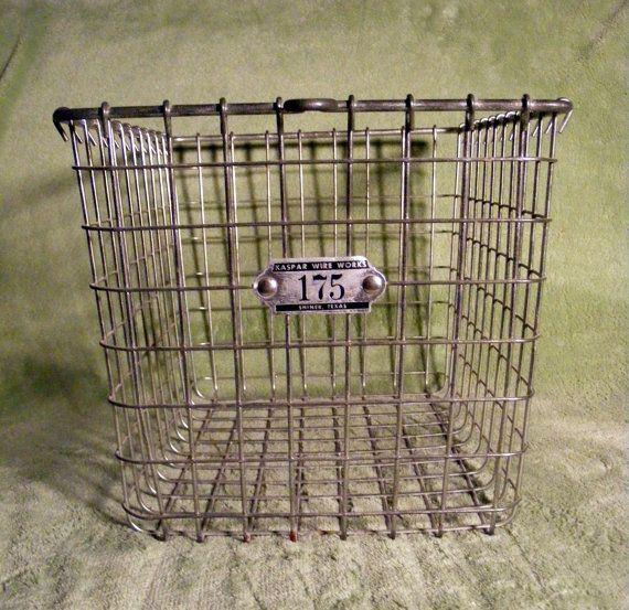 Vintage Wire Locker Basket Kaspar Works By Yvintage 27 95