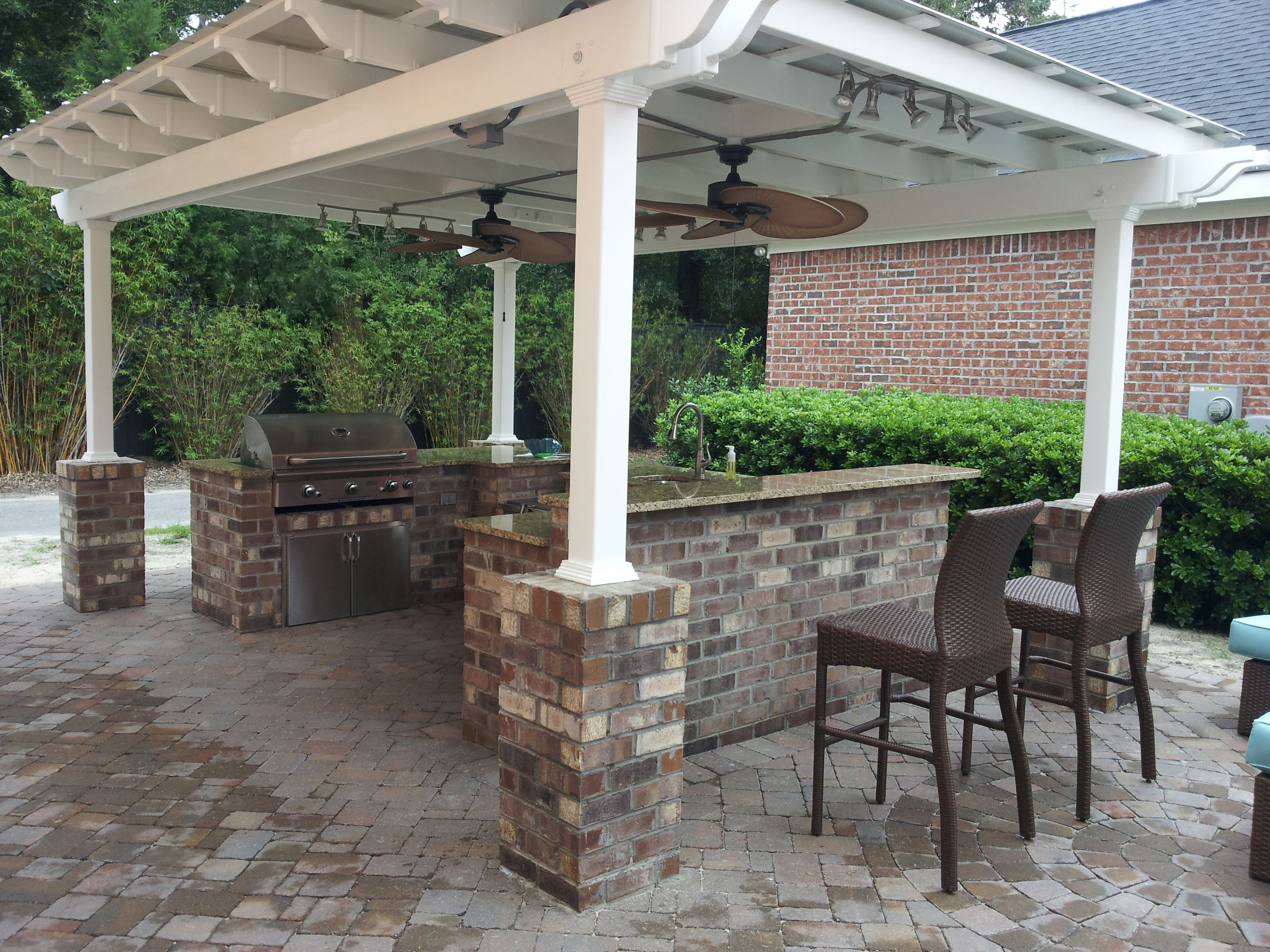 Maybe You Would Like An Outdoor Patio That Is Focused On Having Barbecue Parties With Your Families And Friends During The W In 2020 With Images Vinyl Pergola Pergola Cost Pergola