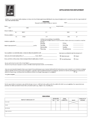 2014 2018 form aldi application for employment fill online 2014 2018 form aldi application for employment fill online printable fillable blank pdffiller thecheapjerseys Gallery