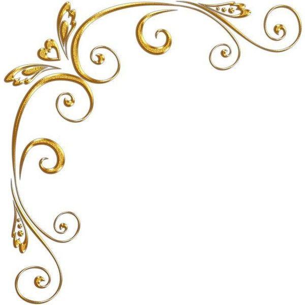 Golden Floral Corners Frame 1 By Paw Prints Designs On Deviantart Frame Border Design Floral Clip Art Vintage