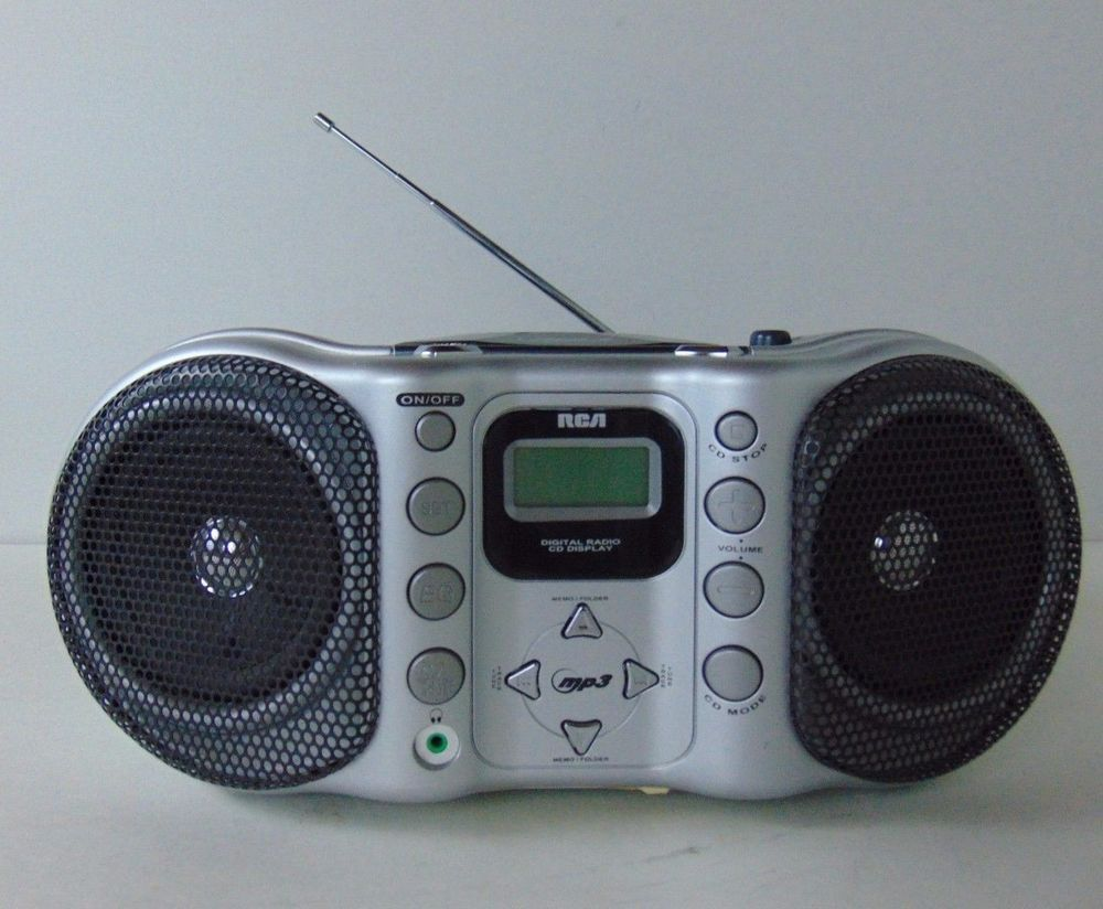 RCA Portable Boombox CD Player with MP3 Playback AM/FM Radio RCD160