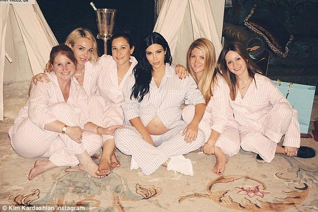 461f66a8f Baby shower  Kim celebrated her new arrival with a Troop Beverly Hills  themed party in Oct..