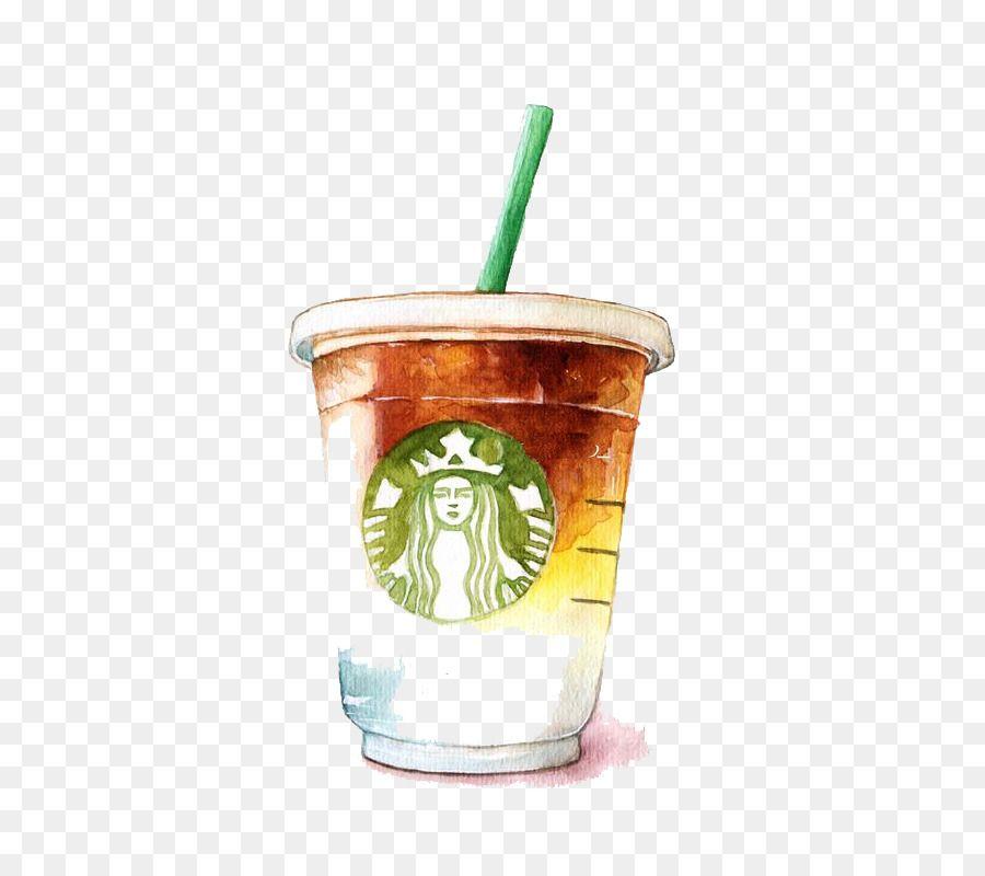 Coffee latte tea starbucks watercolor starbucks