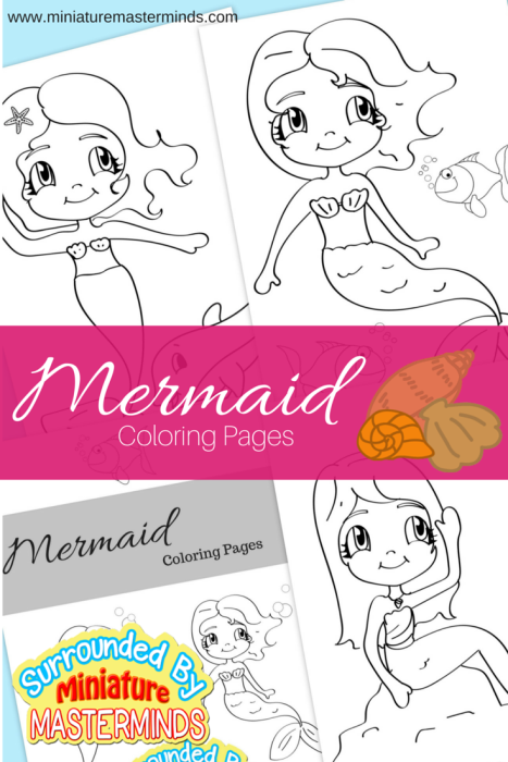 Three Free Printable Mermaid Coloring Pages Free Worksheets For