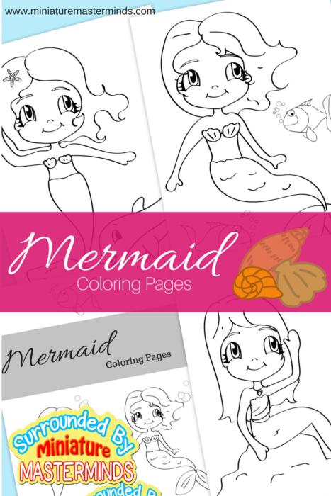 Three Free Printable Mermaid Coloring Pages Mermaid Creative kids