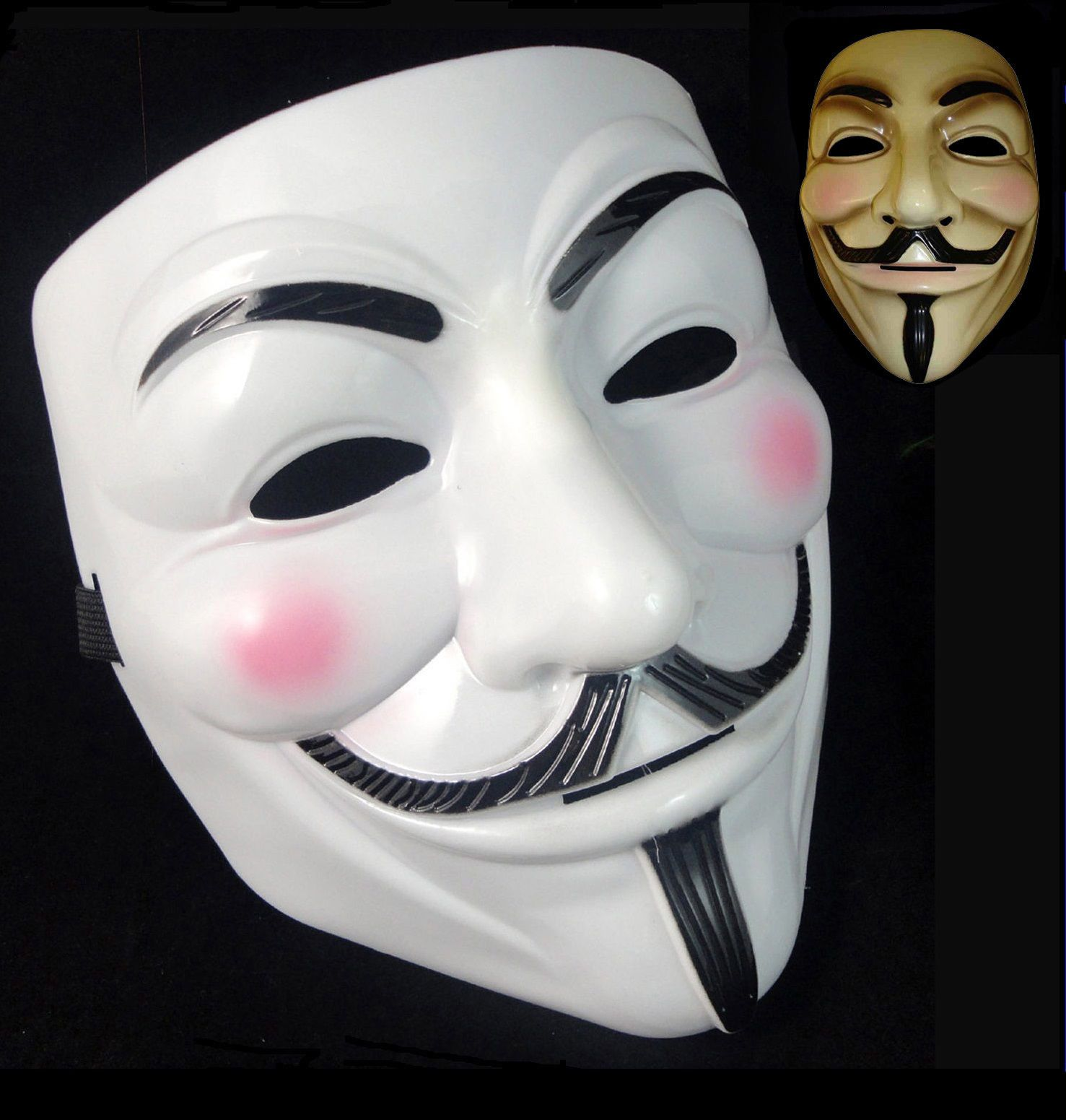 V for Vendetta Mask Adult Mens Guy Fawkes Anonymous USA Occupy Collectors