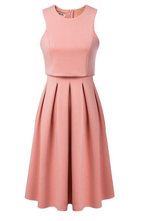 Debutante Crop Top Midi Scuba Dress. Varius colors.