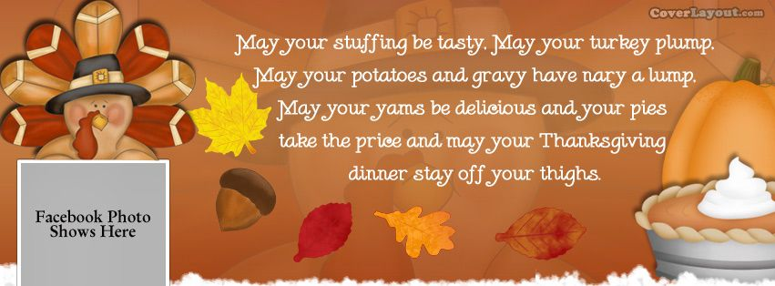 Thanksgiving Funny Poem Facebook Cover