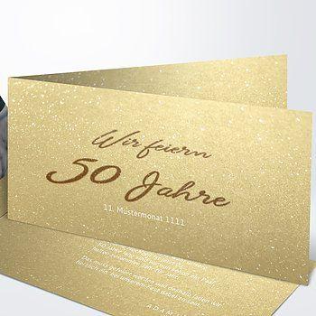 einladungskarten goldene hochzeit - edel und individuell