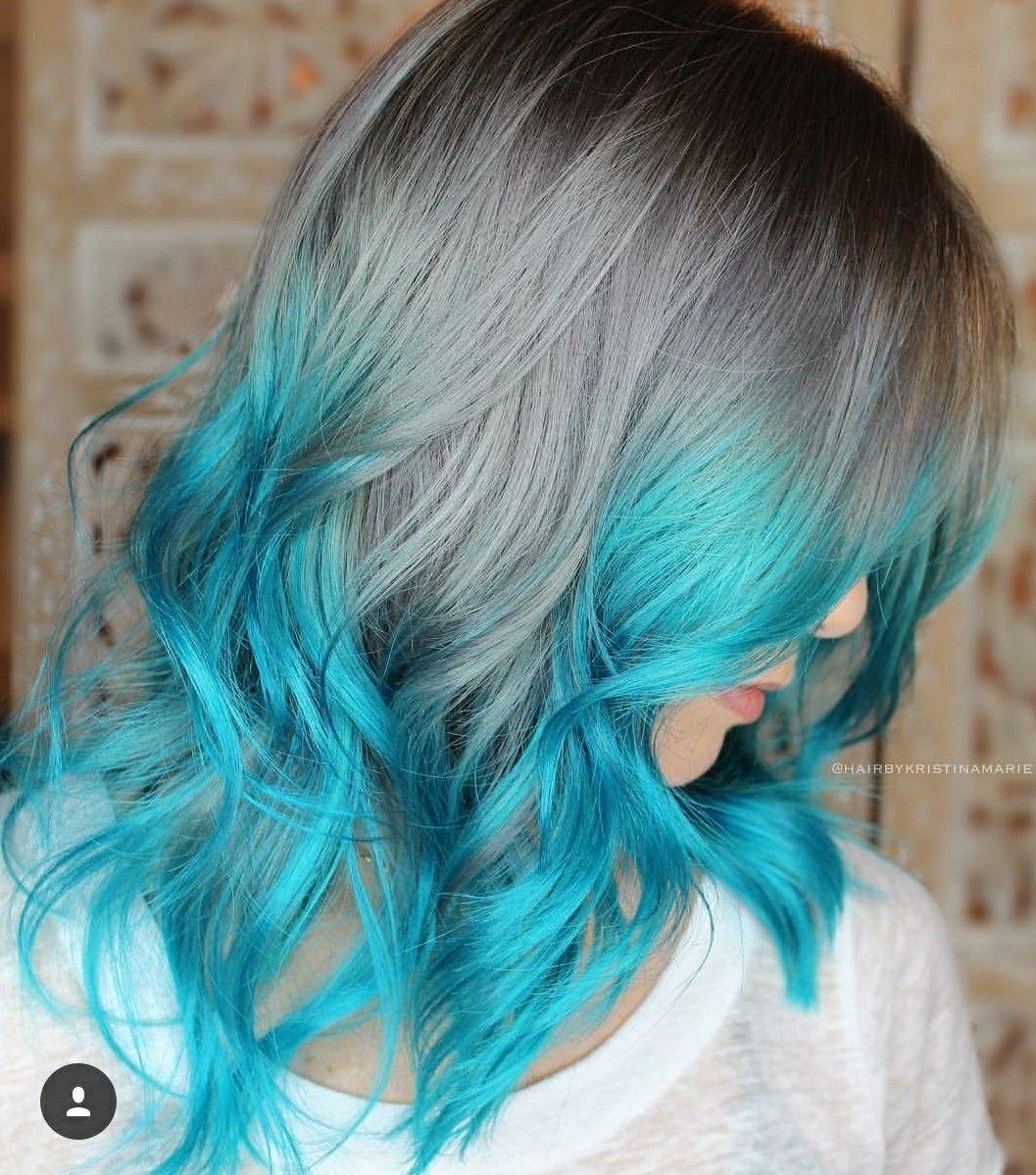 Grey and blue hair colors in pinterest hair hair styles